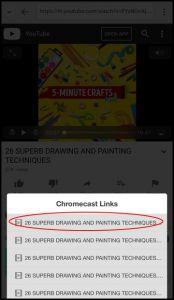 chromecast app screenshot